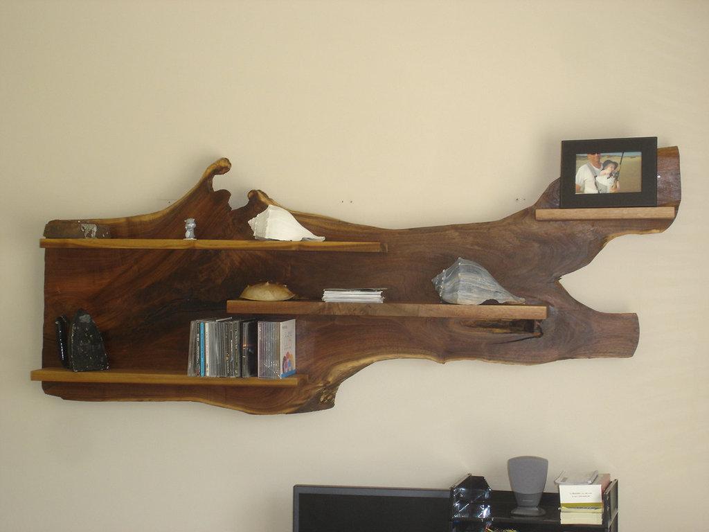 wooden wall shelves design photo - 4
