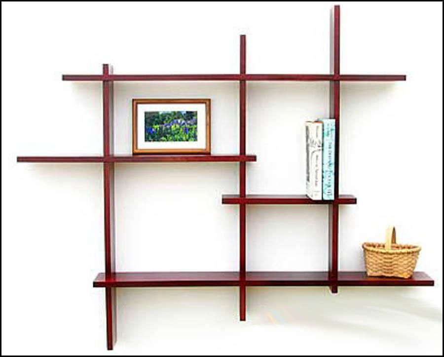 wooden wall shelves design photo - 5