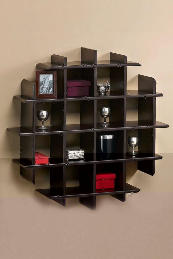 wooden wall shelves design photo - 6