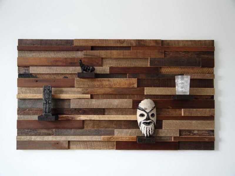 wooden wall shelves design photo - 7