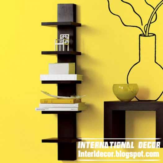 wooden wall shelves design photo - 9