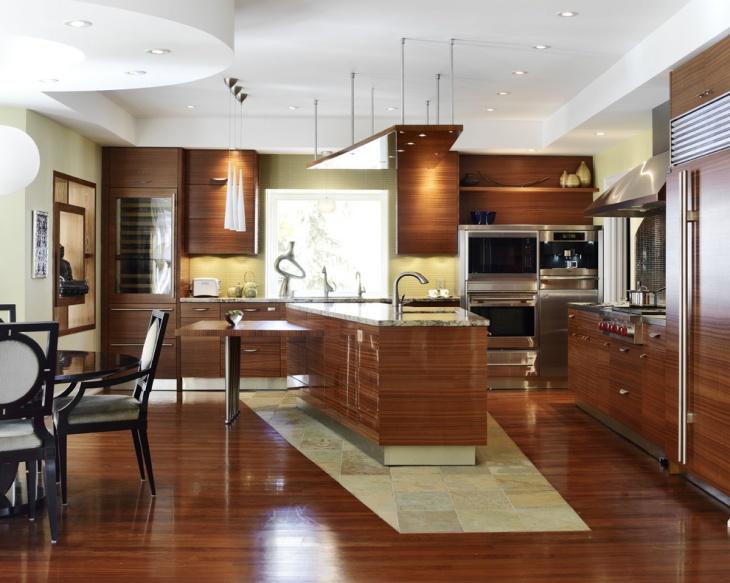 zen style kitchen design photo - 1