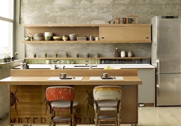 zen style kitchen design photo - 2